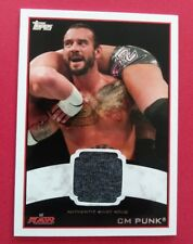 CM PUNK 2012 TOPPS WWE RAW AUTHENTIC SHIRT RELIC CARD
