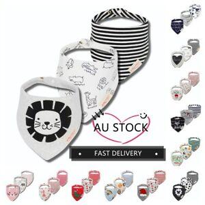 3pcs Cotton Baby Bibs Set Infant Boy Girl Feeding Triangle Apron Bandana Soft