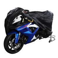 Waterproof Motorcycle Cover Motorbike Breathable Vented Black- RAIN -XXXXL UK