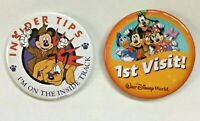 Walt Disney World 1ST VISIT Button Pin and insider tips I'm on the inside track