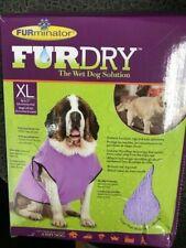 Furminator Furdry Towel Dog Pet Grooming Bathing Purple Xl