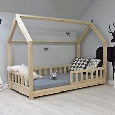 Kinderbett Häuschenbett Hausbett Holzbett Kinderhaus Bett Rausfallschutz Natur