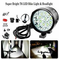 35000LM T6 LED Fahrradlampe 180° Scheinwerfer Kopflampe Licht Set Neuer