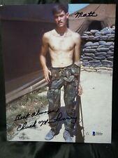 🇺🇸Chuck Mawhinney USMC Sniper BECKETT COA Auto Autograph 8x10 Photo 103 KILLS