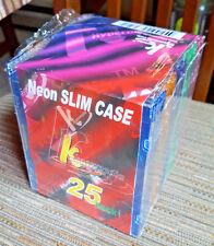 DVD or CD Neon Storage Cases Khypermedia 25 Pack slim Case Jewel Case  NOS NIP