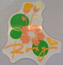 GREEN & orange Roxy sticker QUIKSILVER surfing surfer snowboarding Roxy logo