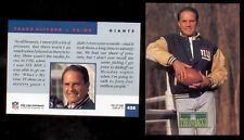 1992 Pro Line FRANK GIFFORD New York Giants Hall of Fame Throwbacks Card