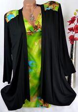 Designer Shirt Bolero Jacke Tunika Bluse Lagenlook Elegant Wasserfall  46 48