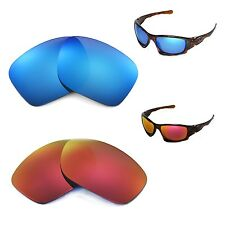 New Walleva Polarized Fire Red + Ice Blue Lenses For Oakley Ten