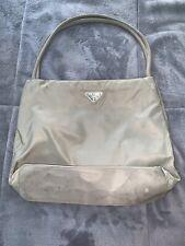 PRADA Milano Olive Nylon Clutch Purse Small Shoulder Bag Made in Italy
