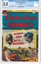 Detective Comics #104 CGC 2.5