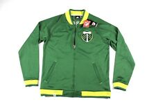 New Sample Adidas Mens Large Portland Timbers MLS Soccer Warm Up Jacket Green