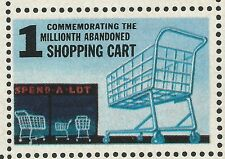 1 Millionth Abandoned Supermarket Shopping Cart Mad Magazine Novelty Stamp Mint