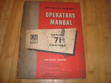 Gm Diesel Power Detroit Diesel Series 71 Engines Operators Manual Cwi