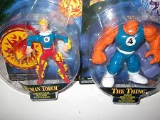 Marvel Fantastic Four Human Torch Firestorm platform THING breaking ToyBiz 100%