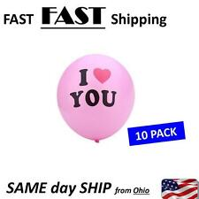 10 PACK ----- I LOVE YOU ------ balloons 10pcs FAST SHIP