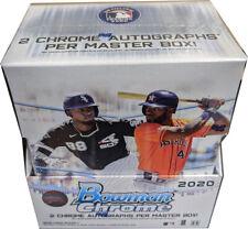 Topps 2020 Bowman Chrome Baseball Factory Sealed Hobby Master Box