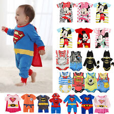 Newborn Baby Kids Boy Girl Superhero Mickey Romper Jumpsuit Bodysuit Outfits Set