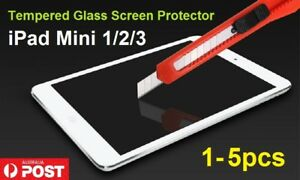 1-5pc Scratch Resist Tempered Glass Screen Protectors for Apple iPad mini 1 2 3