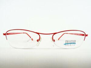 Sportliche Brillenfassung knall rot Metallgestell Damen Halbrand leicht neu Gr.M