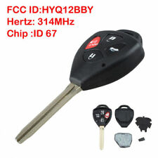 Replacement 4 Button Remote Key Fob 67 Chip HYQ12BBY For 2007-2010 Toyota Camry
