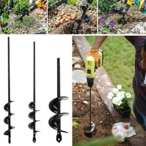 Garden Planting Auger Hole Drill Bit Earth Planter Post Hole Digger Tools