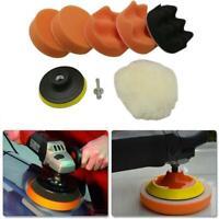 8pc 3/4/5inch Buffing Pad Auto Car Polishing Wheel Kit Buffer+M14 Drill Adapter