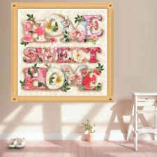 UK Full Drill Sweet Home Letter 5D Diamond Painting DIY Cross Stitch Room Decor