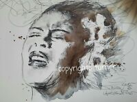 BILLIE HOLIDAY PORTRAIT Turner 2015 Malerei Art  60x80cm Leinwand ART PRINT