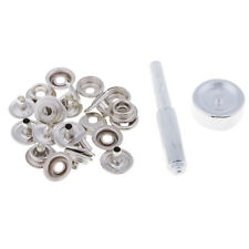 Baoblaze Stainless Steel Fastener Snap Press Stud Cap Button Punch Tool Kit