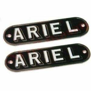 Petrol Gas Fuel Tank Badge Emblem Motif Set Ariel Motorcycles Repro ECs