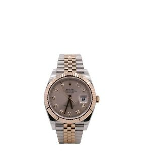 Men's Rolex Datejust 41, 18k Rose Gold and Stainless Steel, Sundust Dial, 126331