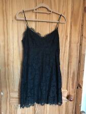 Topshop Tall Dark Green Lace Dress 14