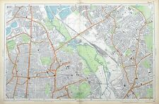 London, 1912 - Hackney, Clapton, Leyton - Original Antique Map, Bacon.