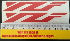 2x Red YZF Stickers 120mm x 18mm Sticker Decal