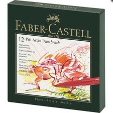 Faber-Castell PITT Artist Pen Brush Studio Box 12 Colours Professional 167146