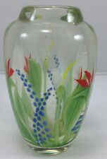 Orient & Flume Art Glass Vase Signed Scott Beyers 6 3/4 196 of 620 Floral Weight
