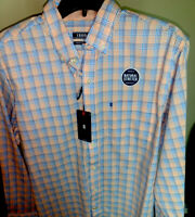 Izod -NWT. Multi Colored Plaid Long Sleeve Button Down Shirt Mens size MED