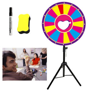 """24"""" Prize Wheel - Floor Stand Editable Dry Erase Fortune Carnival Spining Game"""