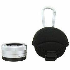 Neoprene Case Pouch & Microfibre cloth for Pancake Lens Sony Olympus Panasonic