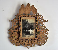 Antique/vintage French Wooden Hand Carved Picture Photo Frame