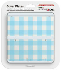 NEW Nintendo 3DS Cover Plate Squares White / Blue IT IMPORT NINTENDO