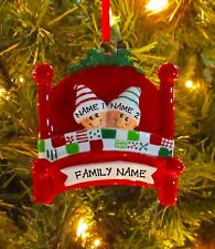 Bed Heads Couple Our 1st Christmas Family Of 2 Personalized Christmas Ornament