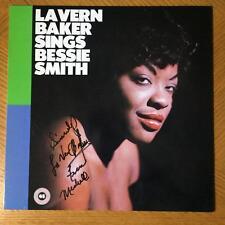 LAVERN LA VERN BAKER R&B SINGER OF JIM DANDY SIGNED LP JACKET AUTOGRAPH
