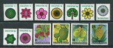 1973 Malaya Singapore Flowers & Fruits set stamps Unmounted Mint MNH U/M