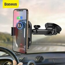 Baseus 10W Qi Wireless Charger Car Phone Holder Dashoboard Windshield Mount
