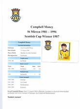 CAMPBELL MONEY ST MIRREN 1981-1996  ORIGINAL HAND SIGNED STICKER