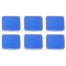 Card Case for SD SDHC Pro Plastic Storage case ZedLabz - 6 pack Blue