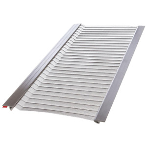 4 ft. l x 5 in. w stainless steel micro-mesh gutter guard (10-pack) | filter new
