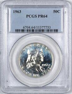 1963 Franklin Silver Proof Half Dollar 50C - PCGS PR64 -